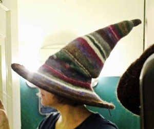 wizard patchwork hat